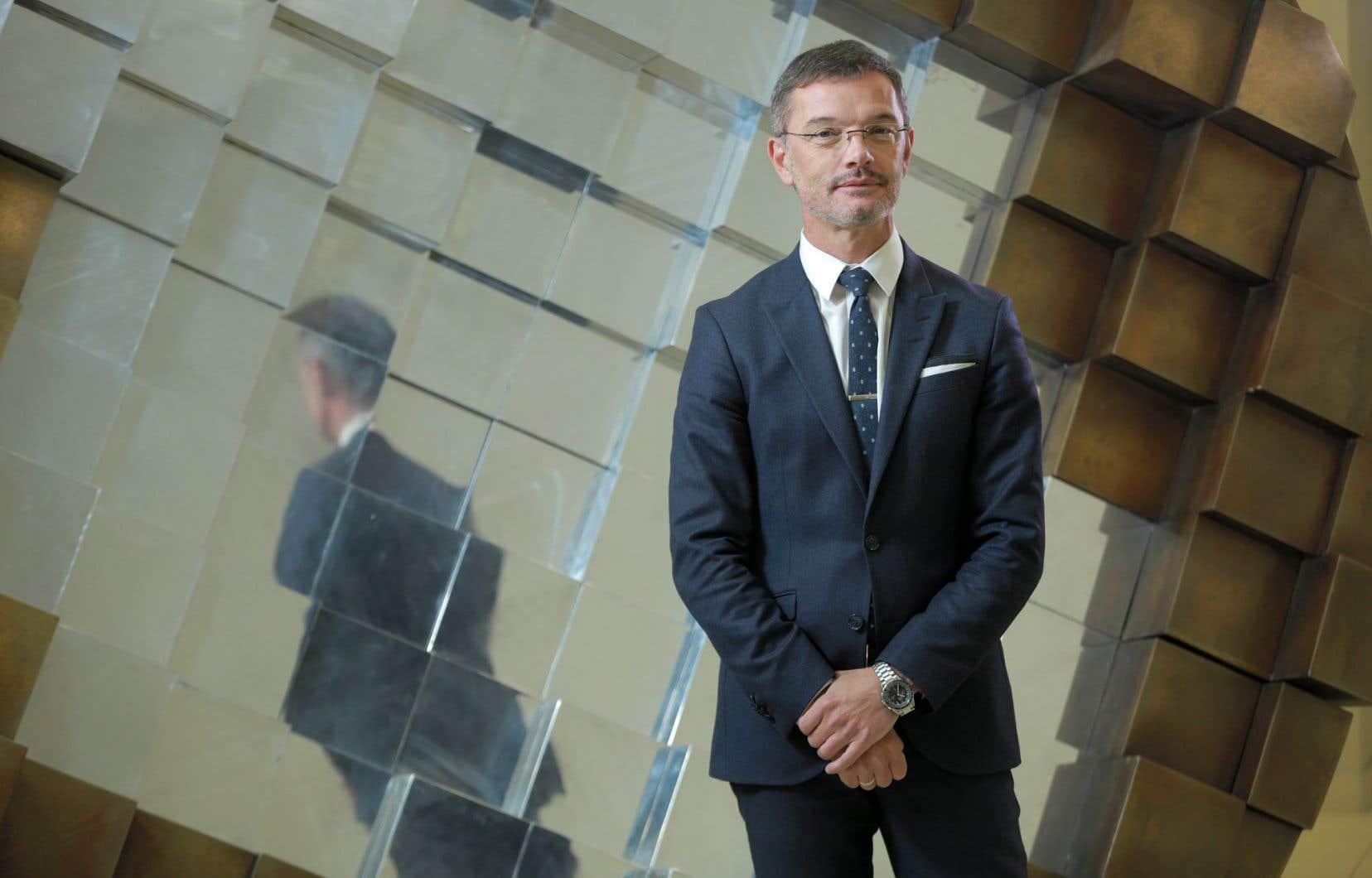 Le directeur général du Quartier de l'innovation de Montréal, Damien Silès