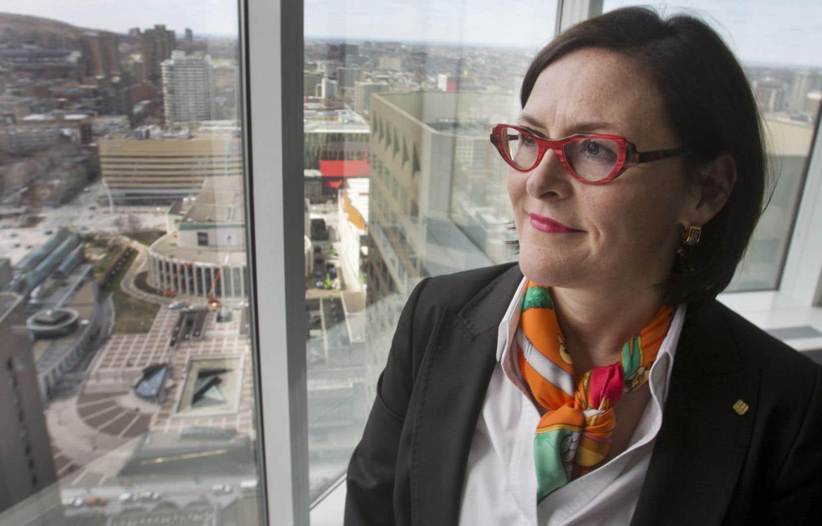 Diane Francoeur, la présidente de la Fédération des médecins spécialistes du Québec
