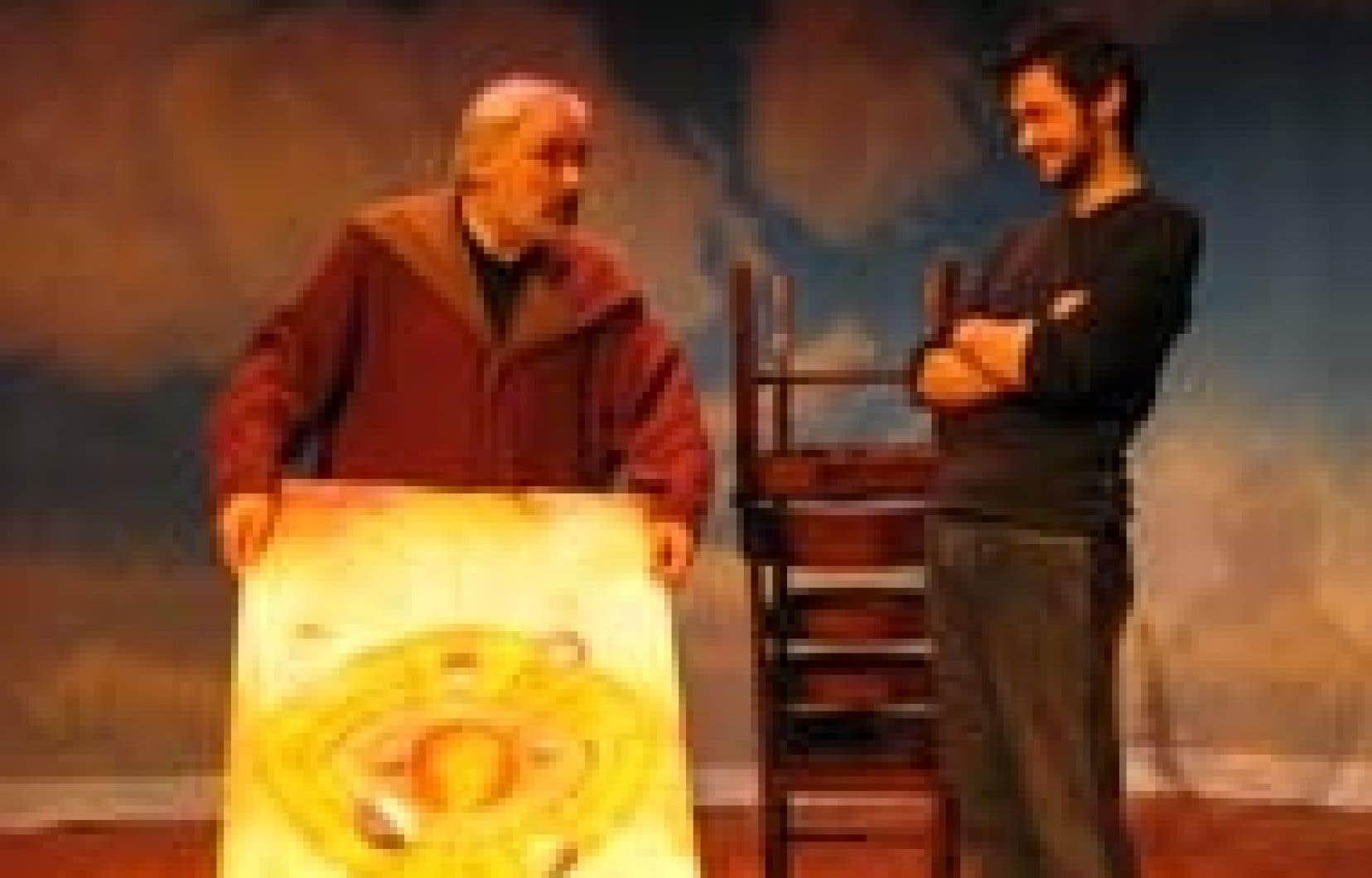 La pièce Le Cabaret de Galilée traite de l'importance de Galilée dans l'histoire des sciences, ce qui est fort louable. Source: Petit Théâtre Chaplin