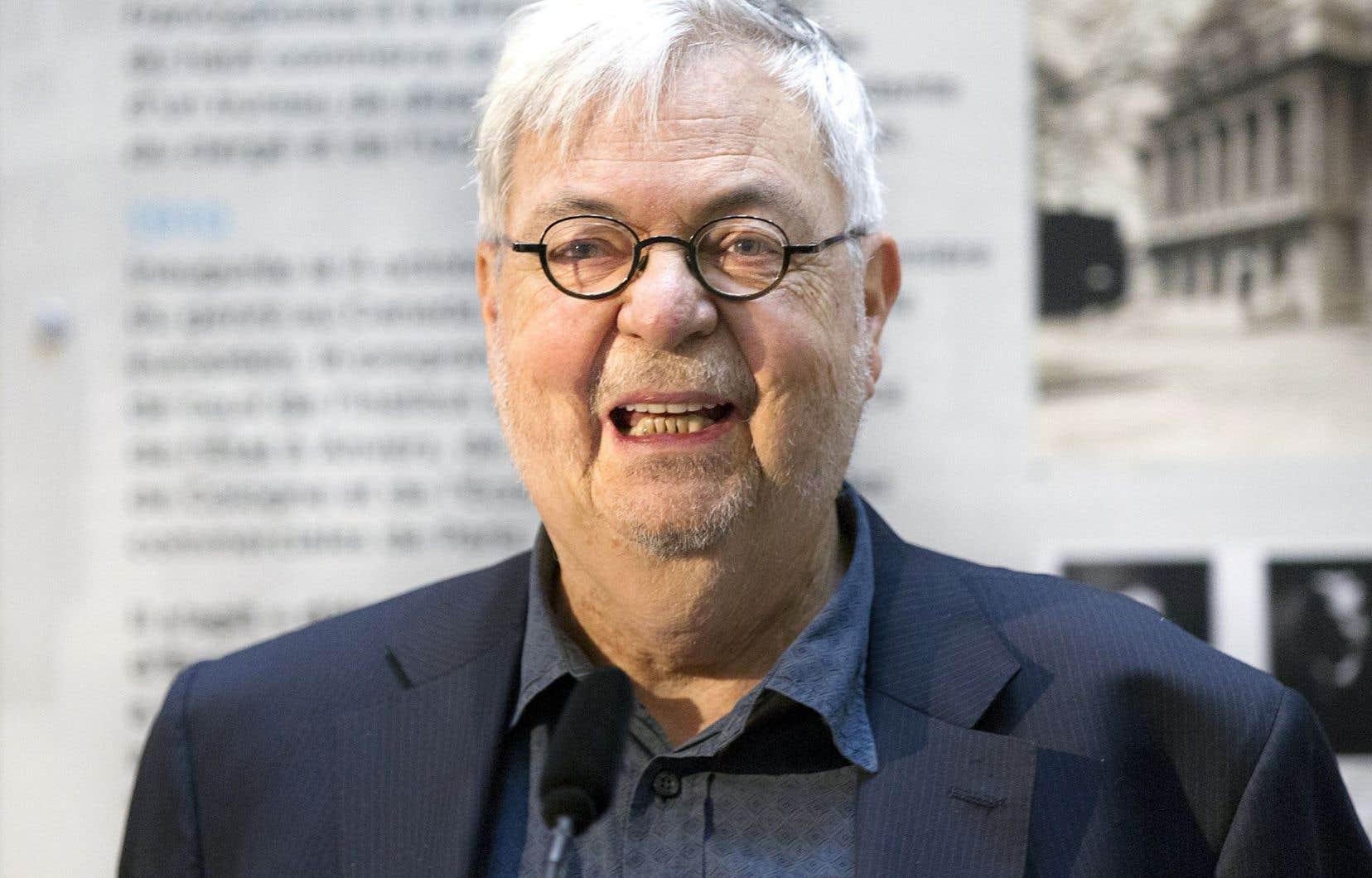 Michel Tremblay fait partie de la trentaine d'écrivains qui signent cette lettre solidaire du combat que mène Copibec contre l'Université Laval.<br />