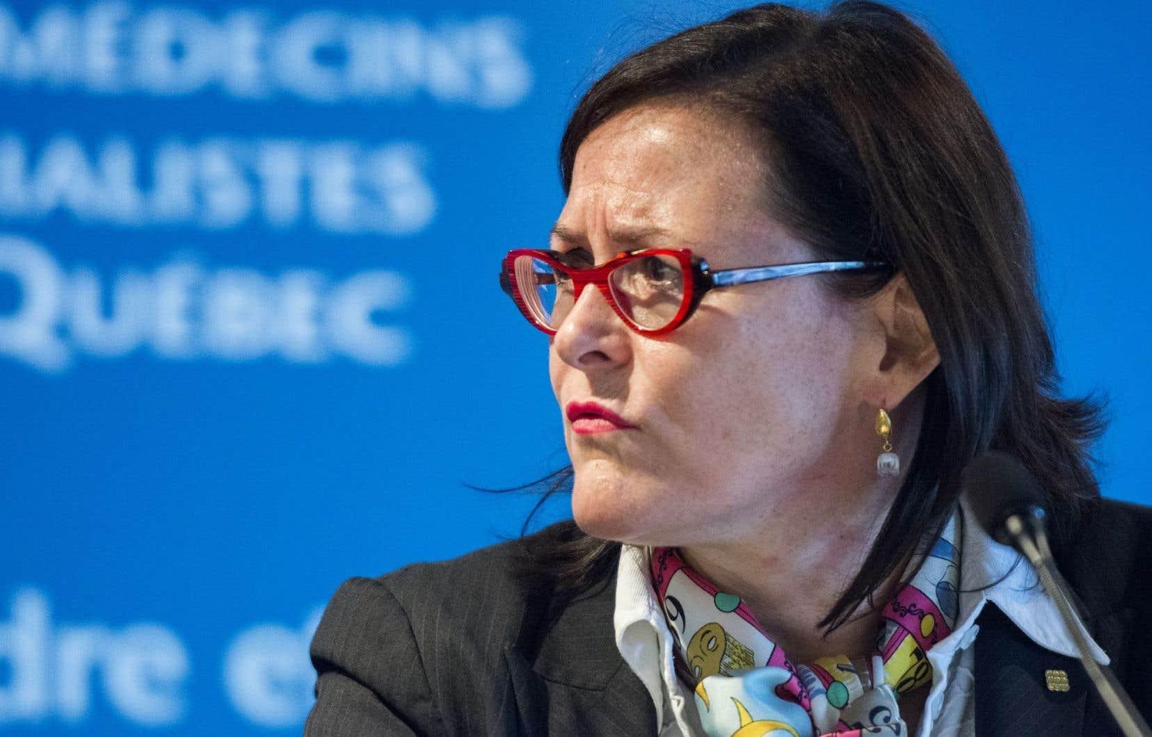 «Contrairement au ministre Barrette, la FMSQ, elle, n'a pas changé d'opinion», a lancé d'entrée de jeu mardi Diane Francoeur lors de la présentation sur le projet de loi 20.