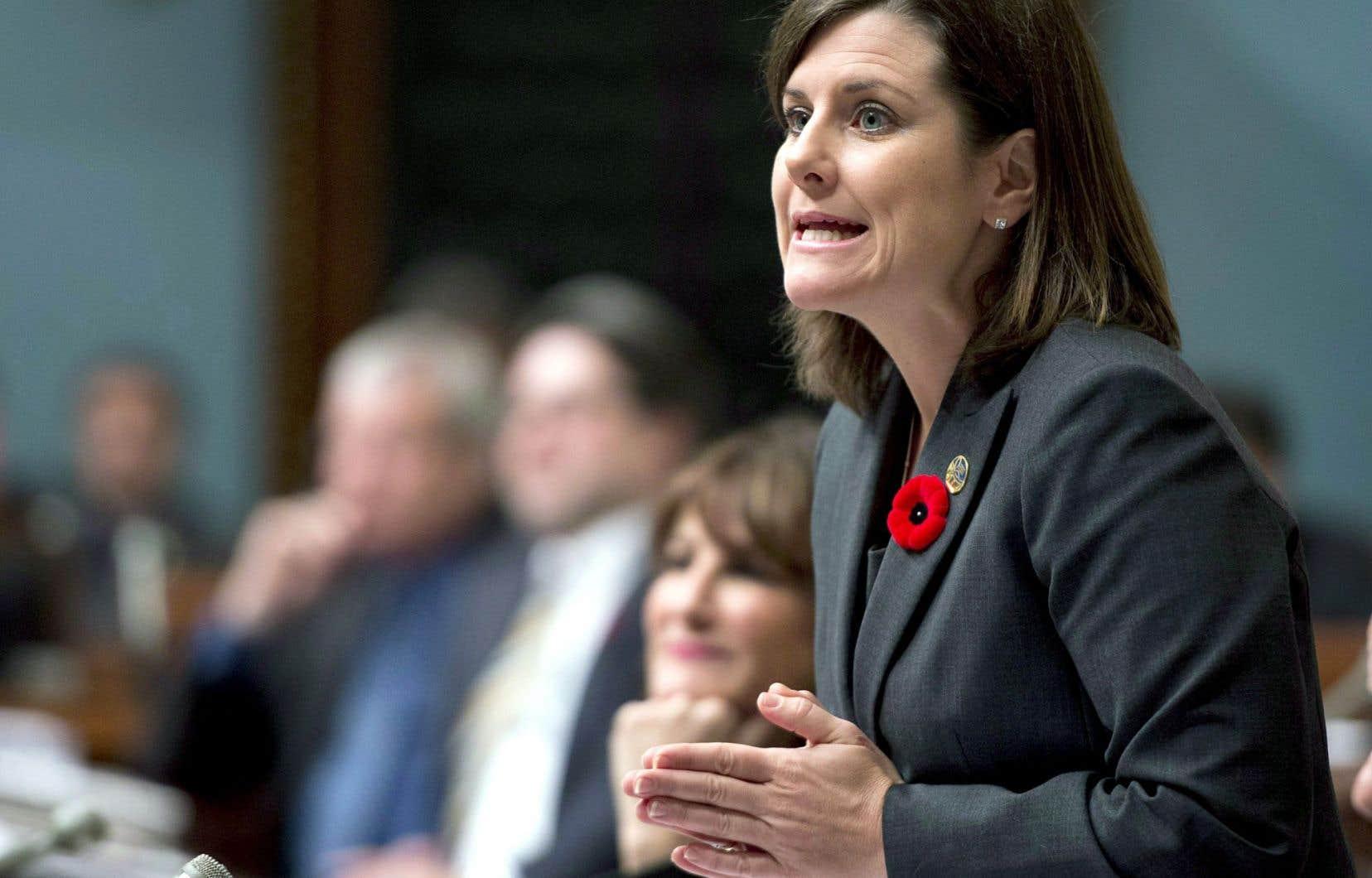 La ministre de la Justice, Stéphanie Vallée, est l'une des signataires de la lettre envoyée à Ottawa.