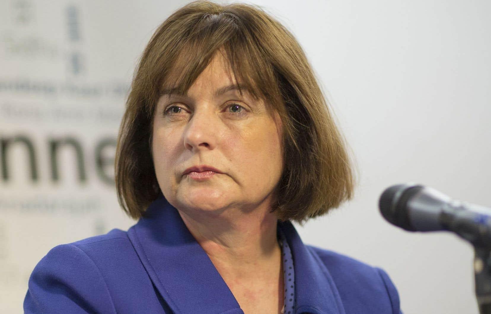 La présidente de Conseil du statut de la Femme, Julie Miville-Dechêne