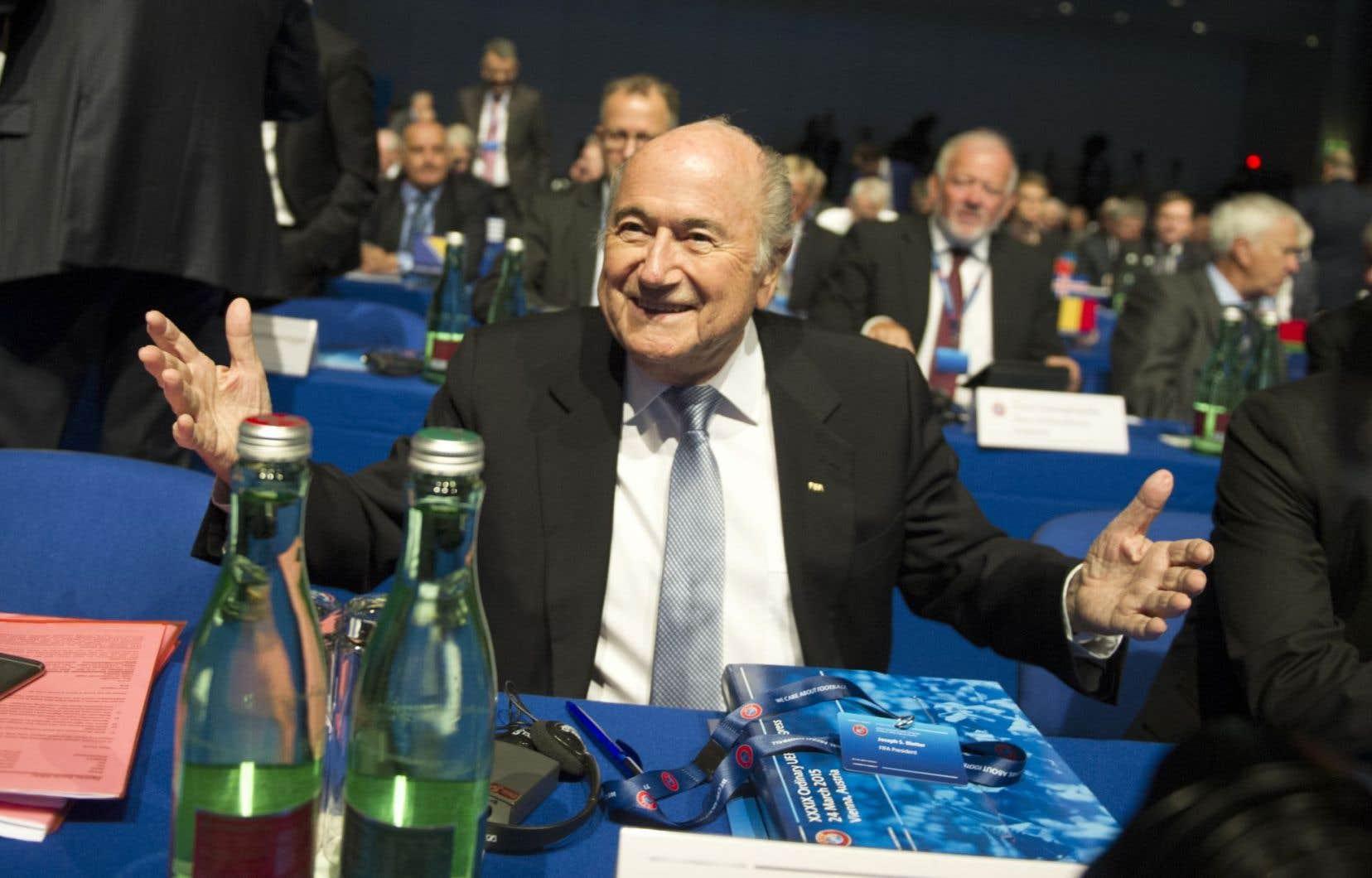 Joseph Blatter, président de la Fédération internationale de football association