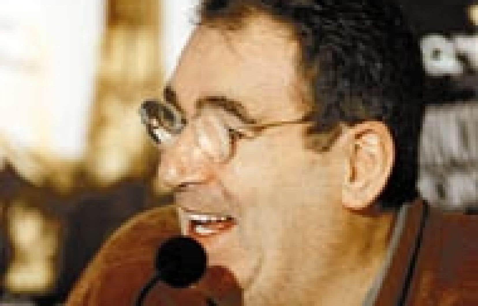 Claude Nougaro, photographié à Montréal en 1998.