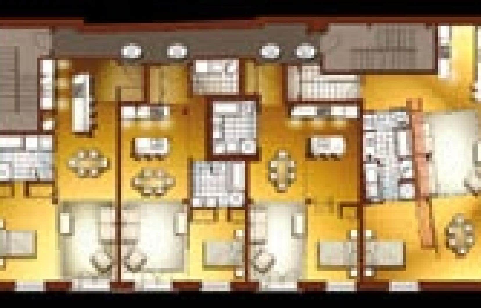 Photo 3D Forme Studio - Ces projets de Forme Studio ont la particularité de redonner un vrai sens au mot «loft»: ils proposent des espaces complètement ouverts, habillés de parois coulissantes ou pivotantes qui peuvent venir fermer une ou plusieurs