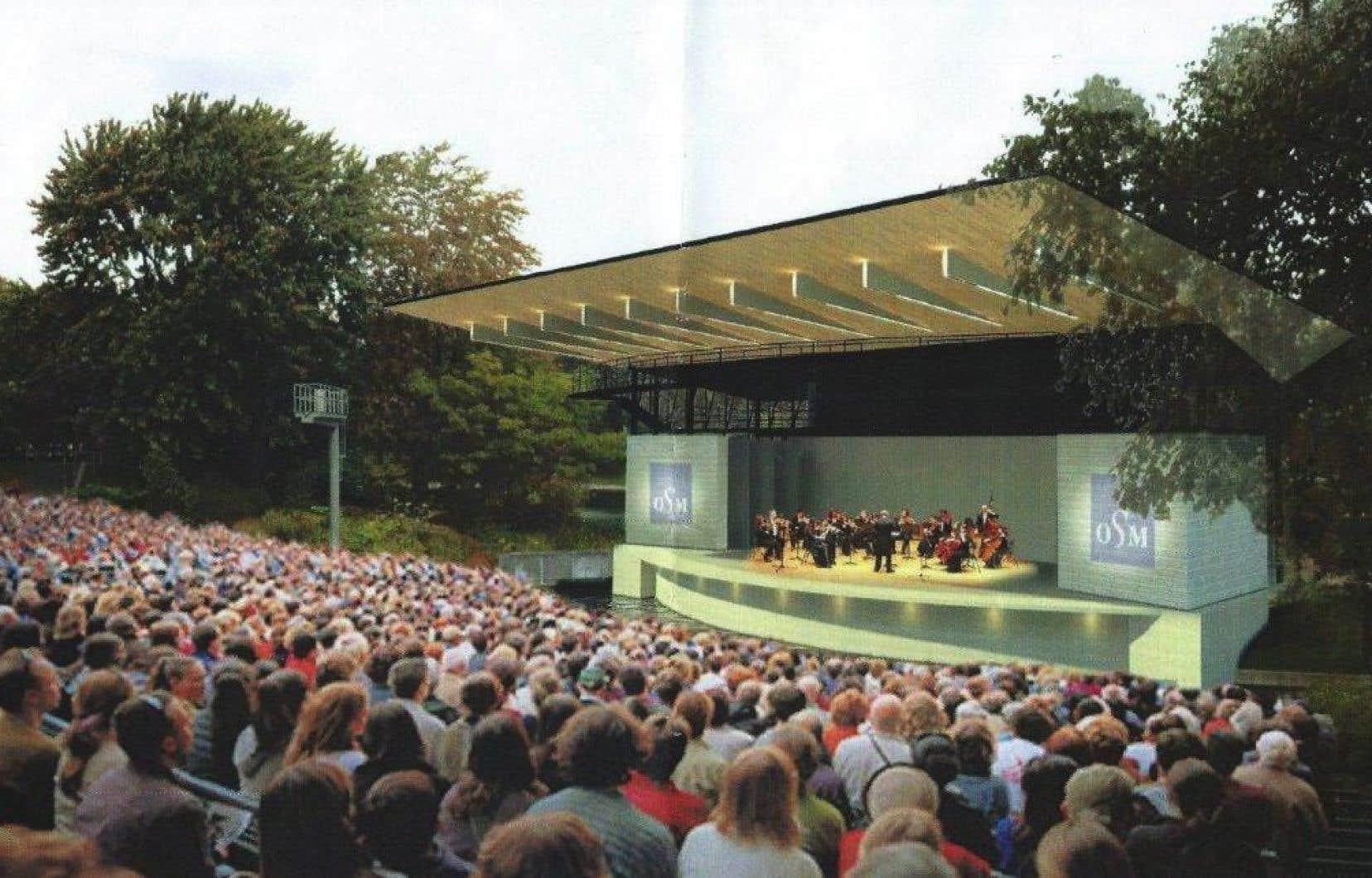 Maquette d'une nouvelle version proposée pour le Théâtre de Verdure, au parc La Fontaine.