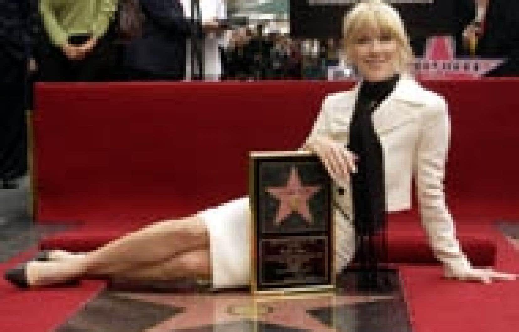 Céline Dion a dévoilé hier son étoile sur le célèbre «Hollywood Walk of Fame».