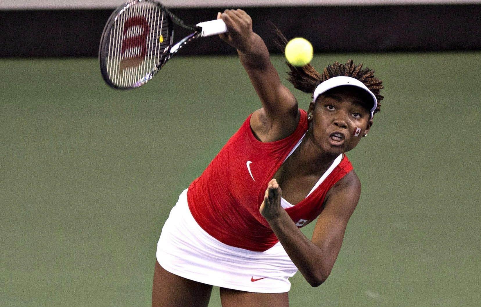 Françoise Abanda en sera à sa deuxième participation à un affrontement de la Fed Cup cette année.