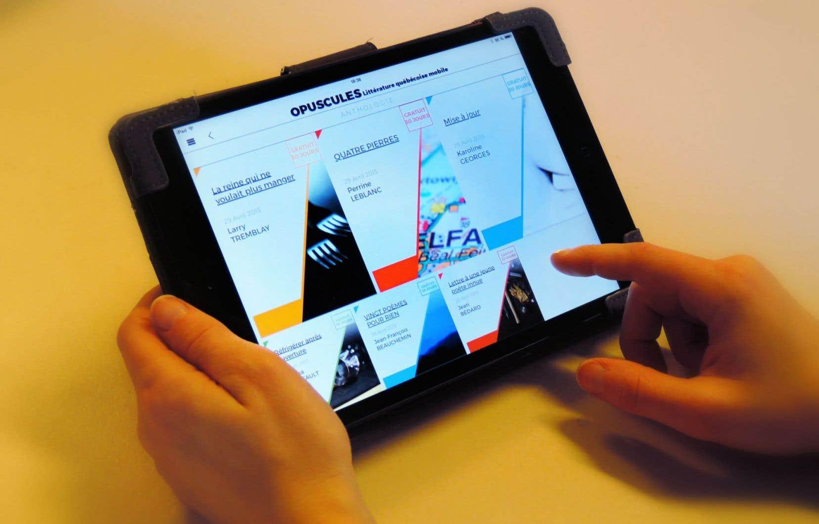 Opuscules veut simplement promouvoir la littérature québécoise en amenant le texte littéraire en format mobile.