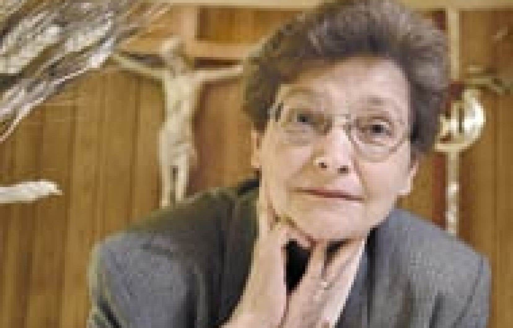 Soeur Gisèle Turcot, mère supérieure de l'Institut de Notre-Dame-du-Bon-Conseil.
