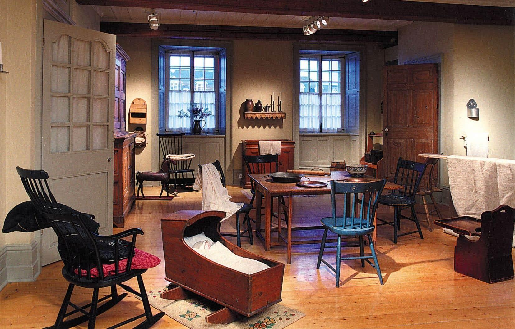 Vue intérieure de la Maison Chevalier