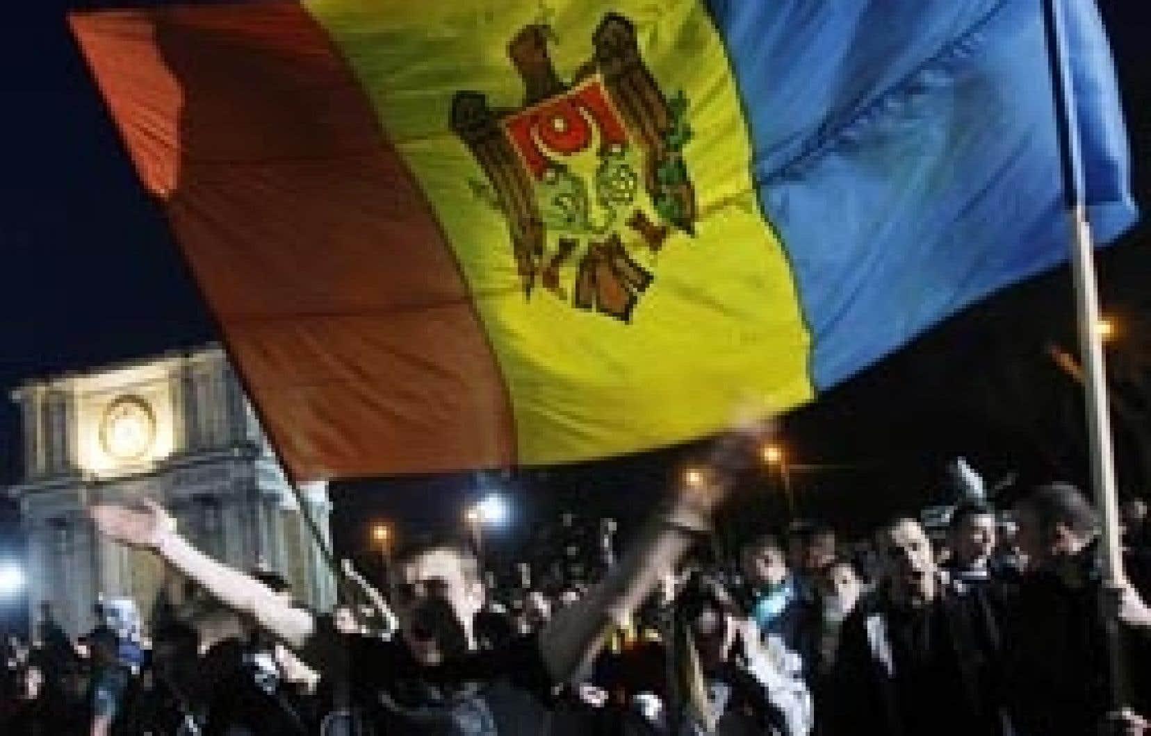 Une manifestation s'est déroulée hier dans le centre de Chisinau sans débordements de violence.