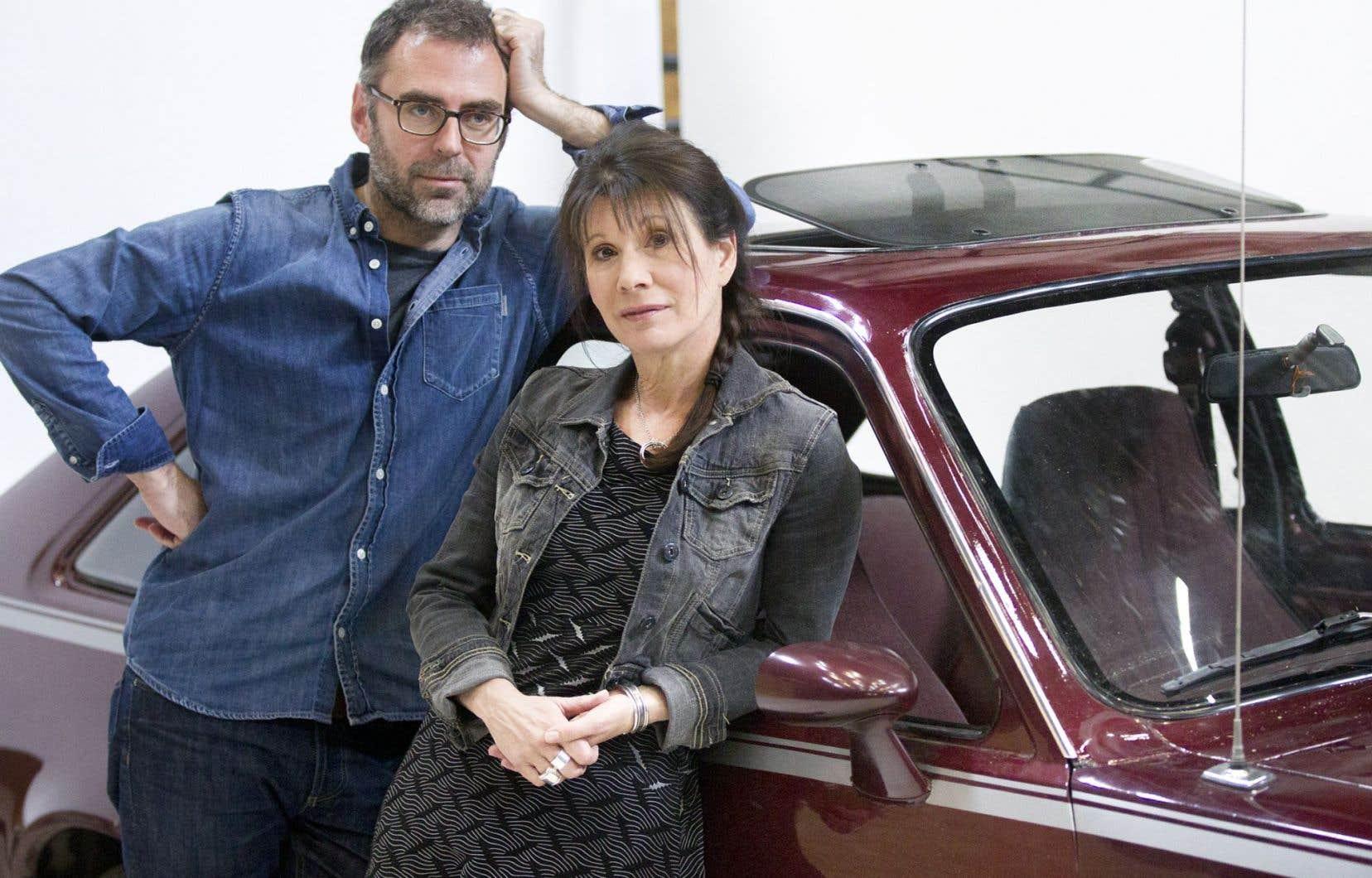Le metteur en scène Marc Lainé et la comédienne Sylvie Léonard