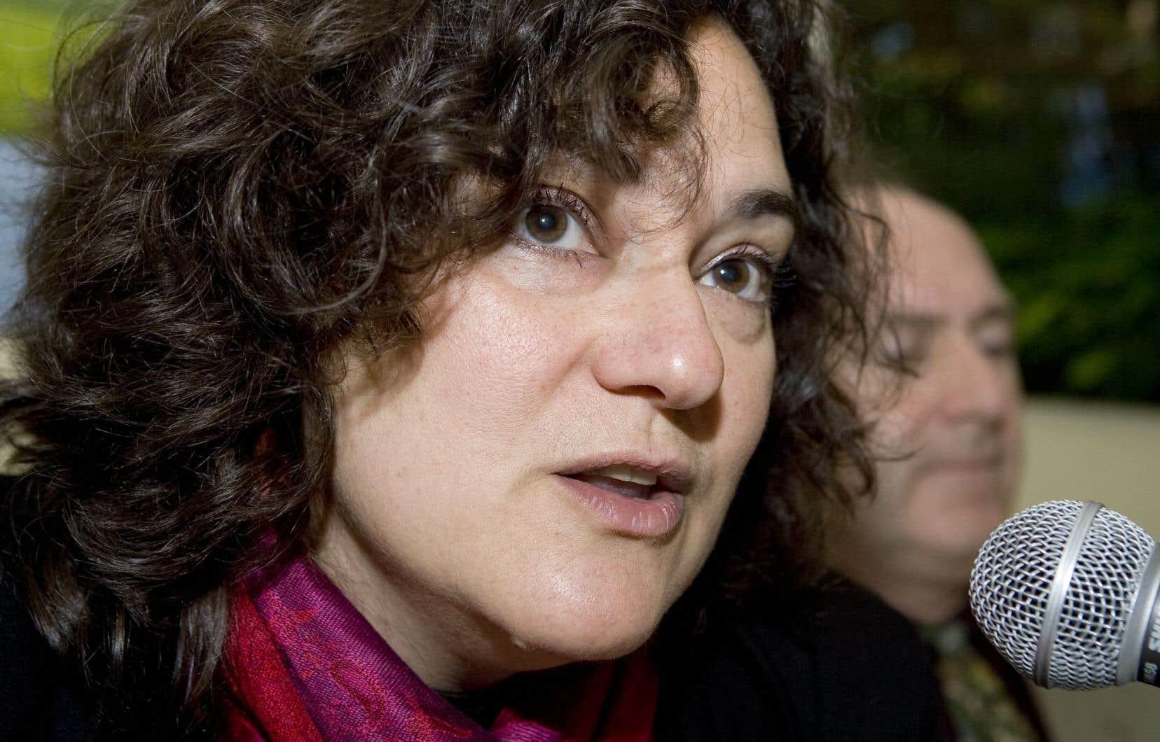 La présidente du Conseil central du Montréal métropolitain (CCMM),Dominique Daigneault