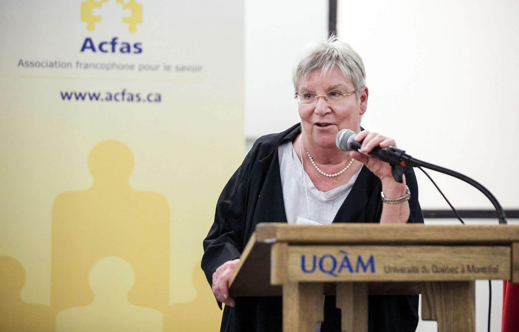 Louise Dandurand, présidente de l'Acfas