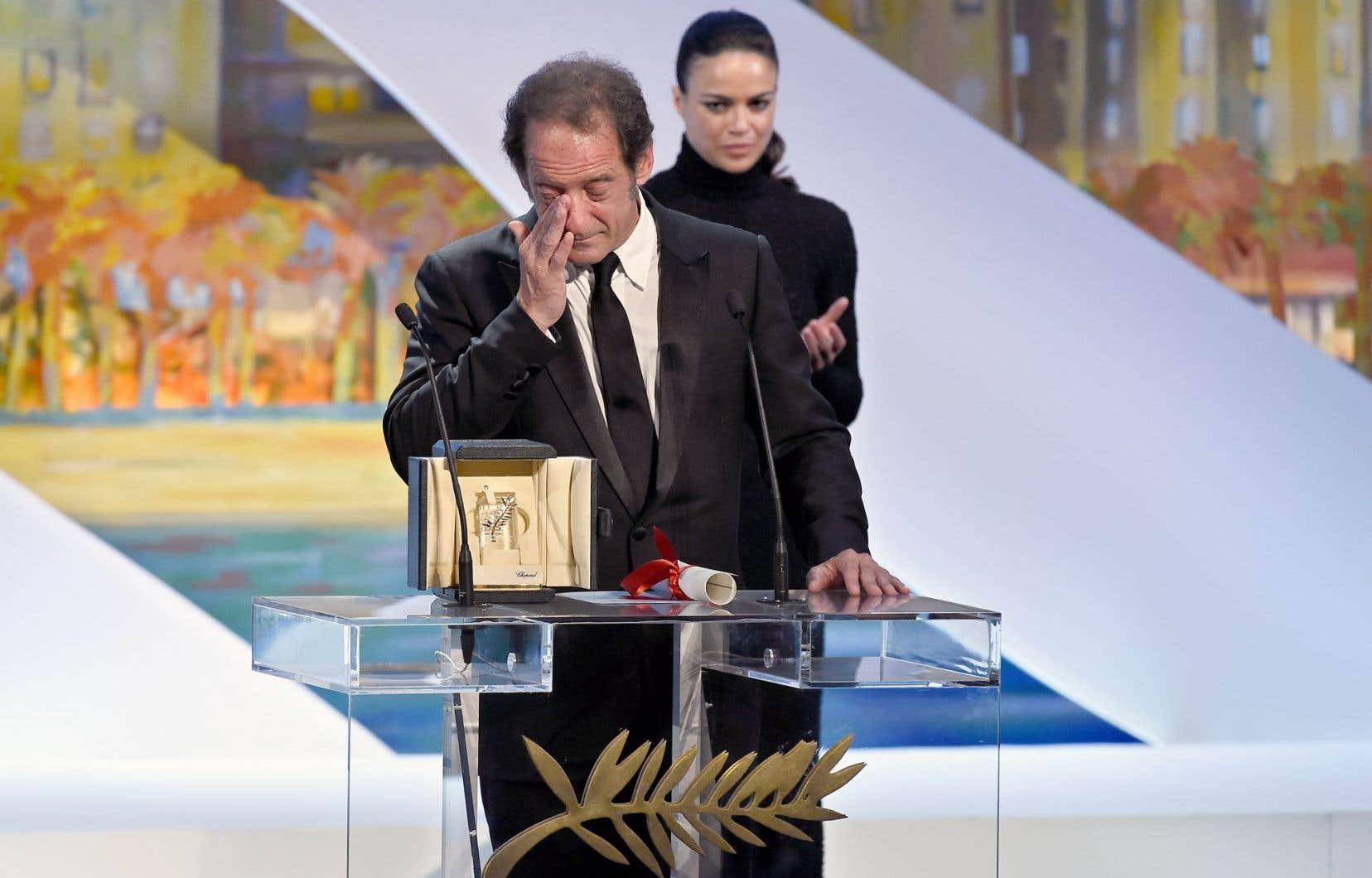 Vincent Lindon, bouleversé, les larmes aux yeux, aura offert la charge d'émotion de cette soirée en recevant le prix du meilleur acteur.