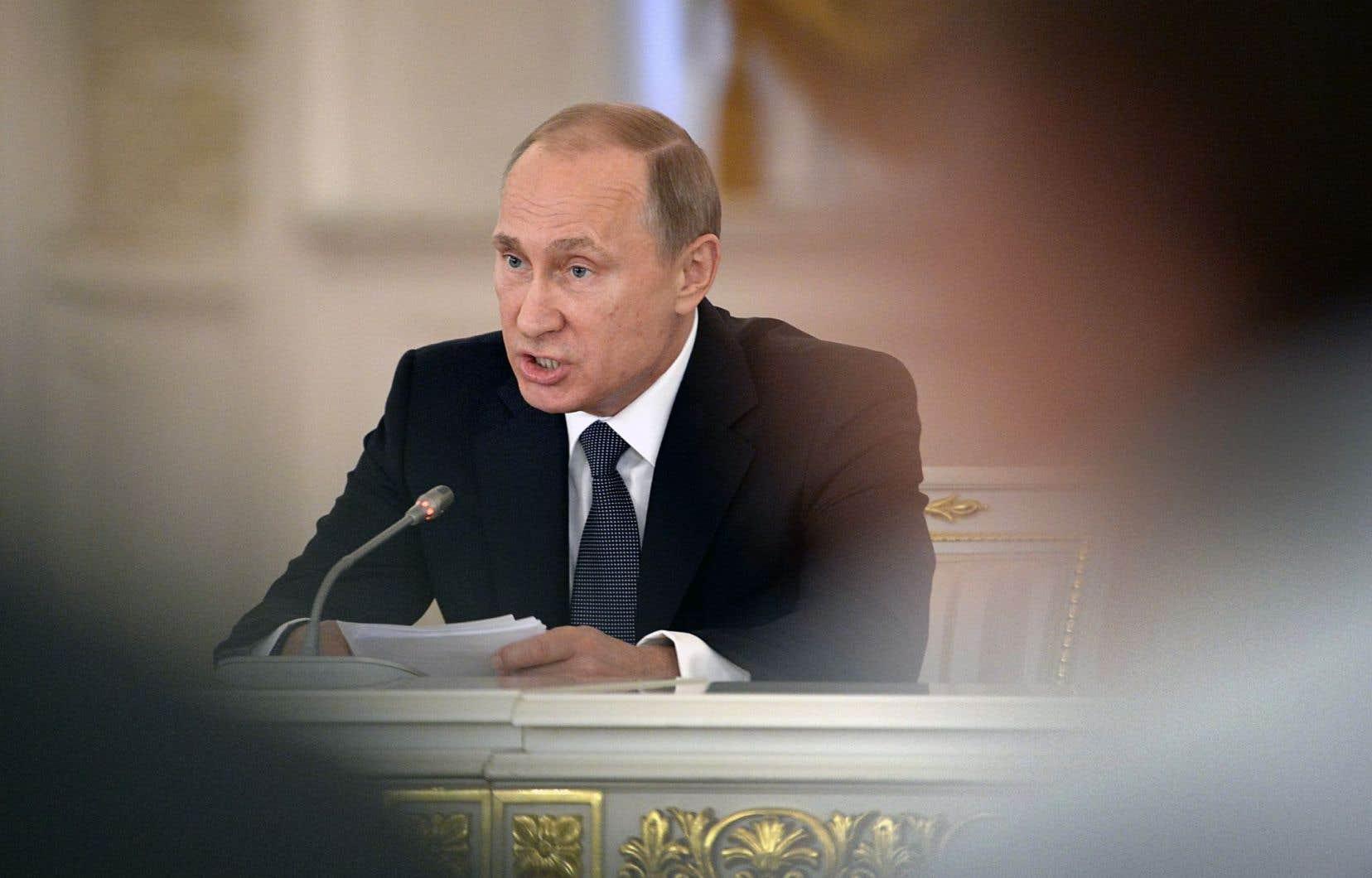 Le président Vladimir Poutine, au Kremlin, le 19 mai dernier