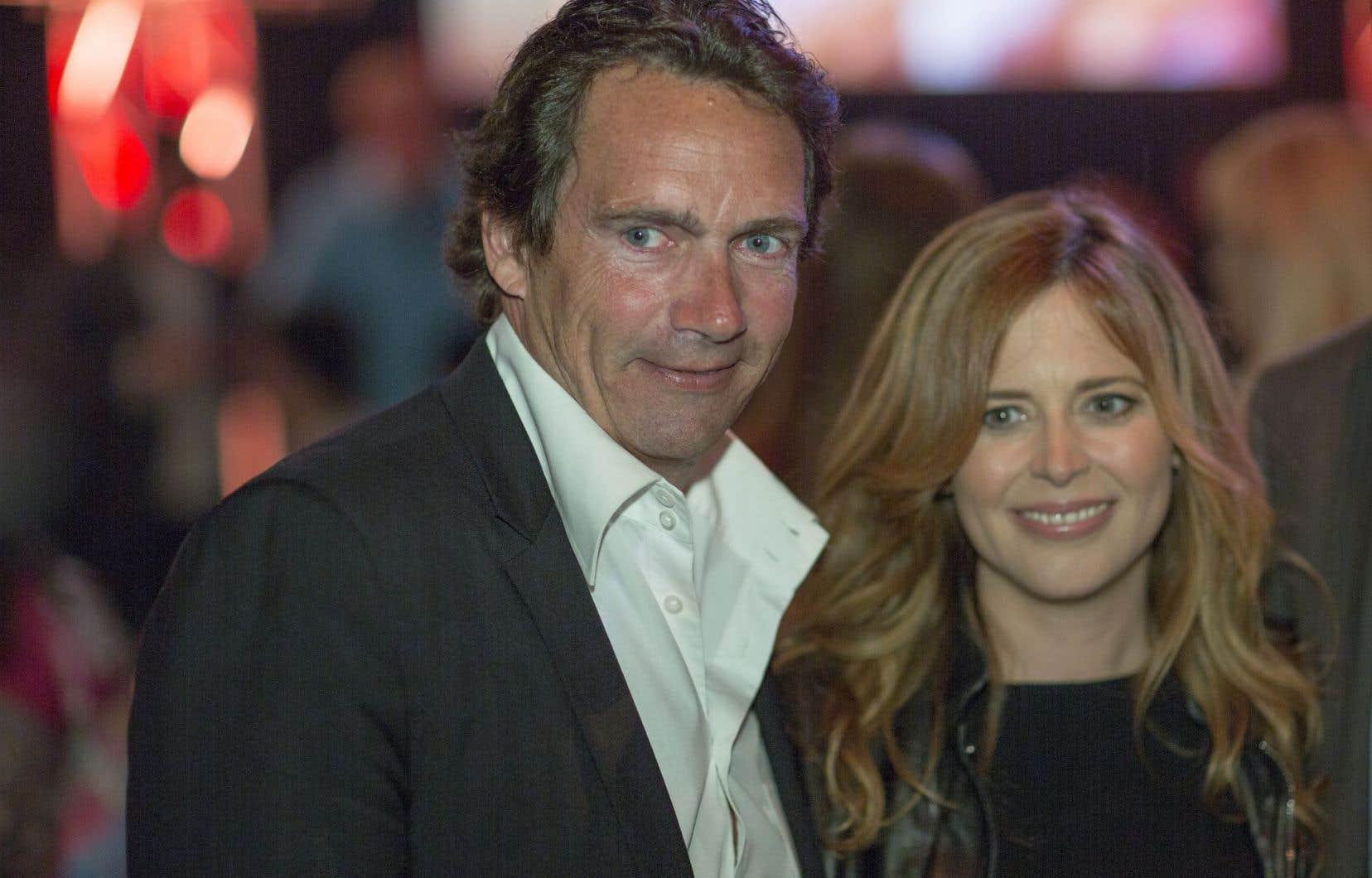 Pierre Karl Péladeau et Julie Snyder