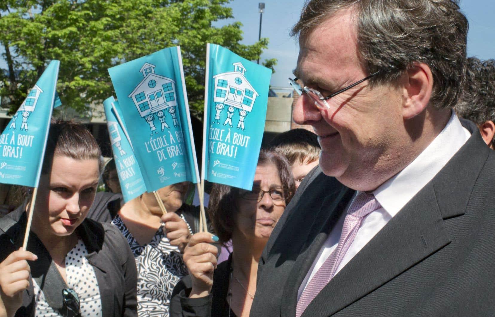 Le ministre Blais a prononcé une allocution au congrès de la Fédération des commissions scolaires, à Laval.