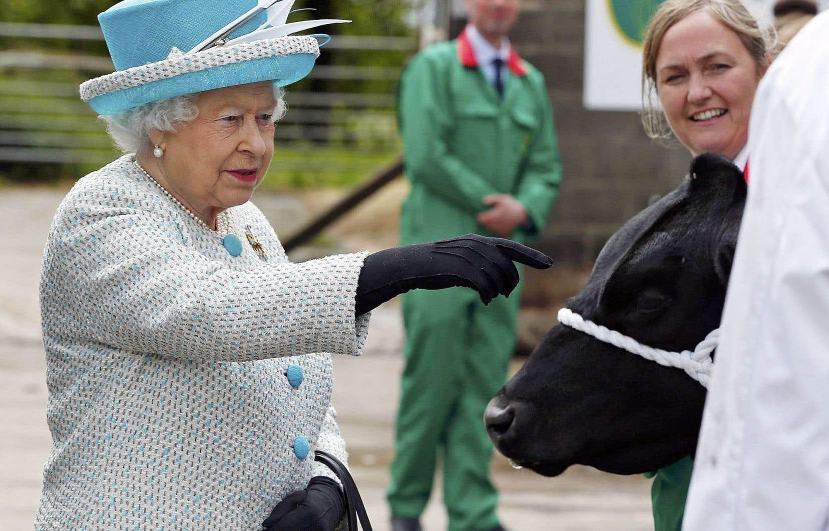 La reine Elizabeth est bien portante, a tenu à préciser Buckingham Palace. On la voit ici la semaine dernière au Myerscough College, dans le Lancaster.