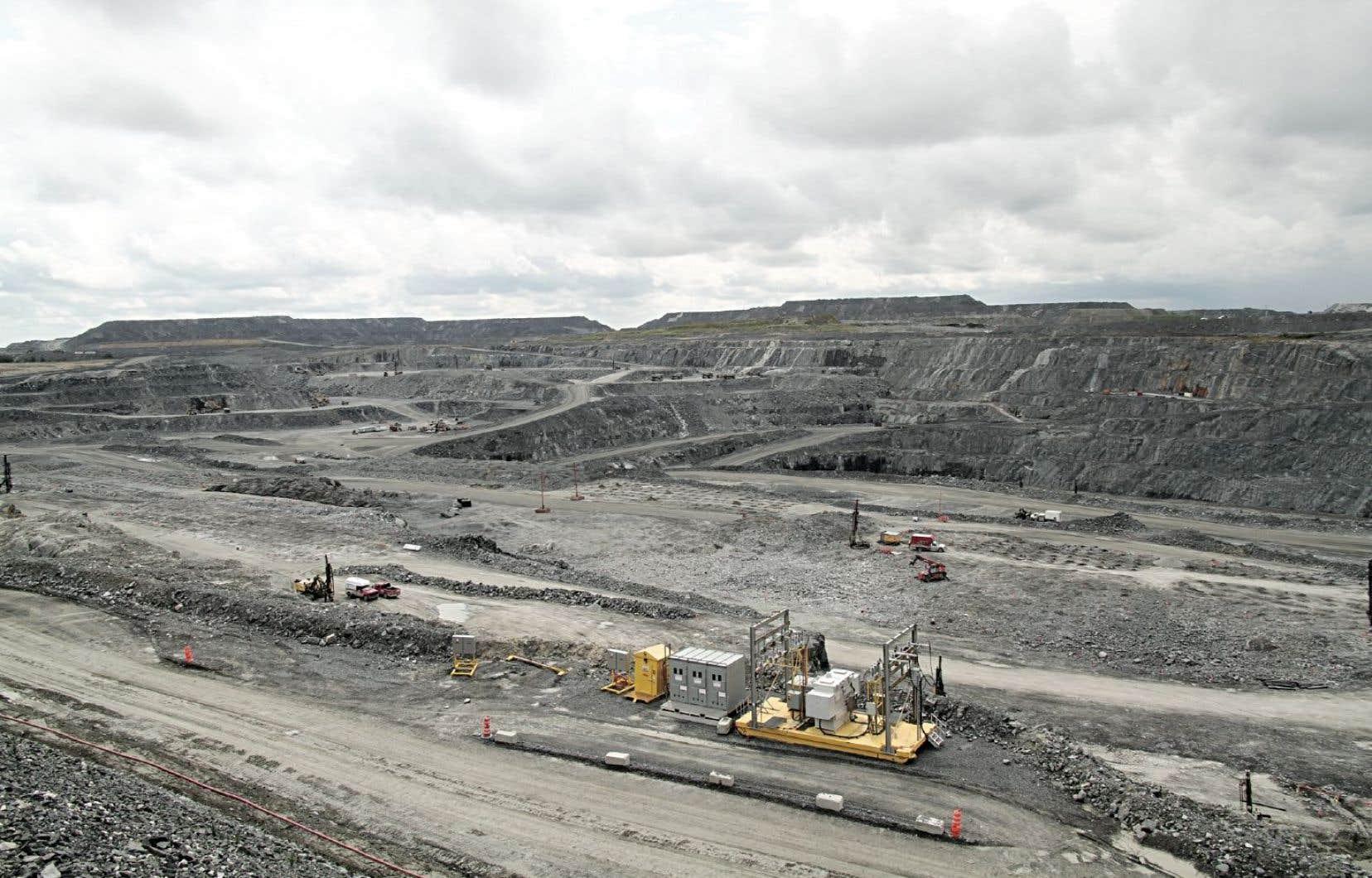 Le projet Royal Nickel sera deux fois plus gros que la mine d'or de Malartic (notre photo).