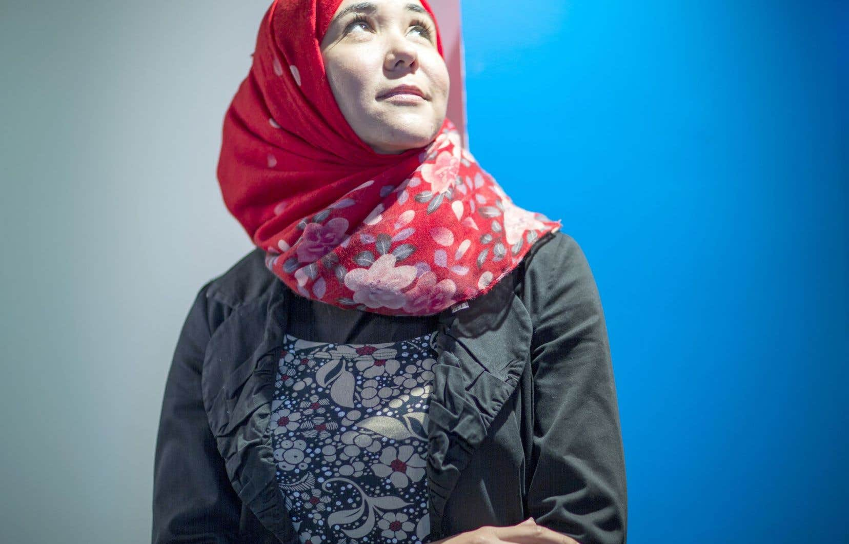 Tasneem Alhmooze était de passage à Montréal cette semaine, à l'invitation d'Equitas.
