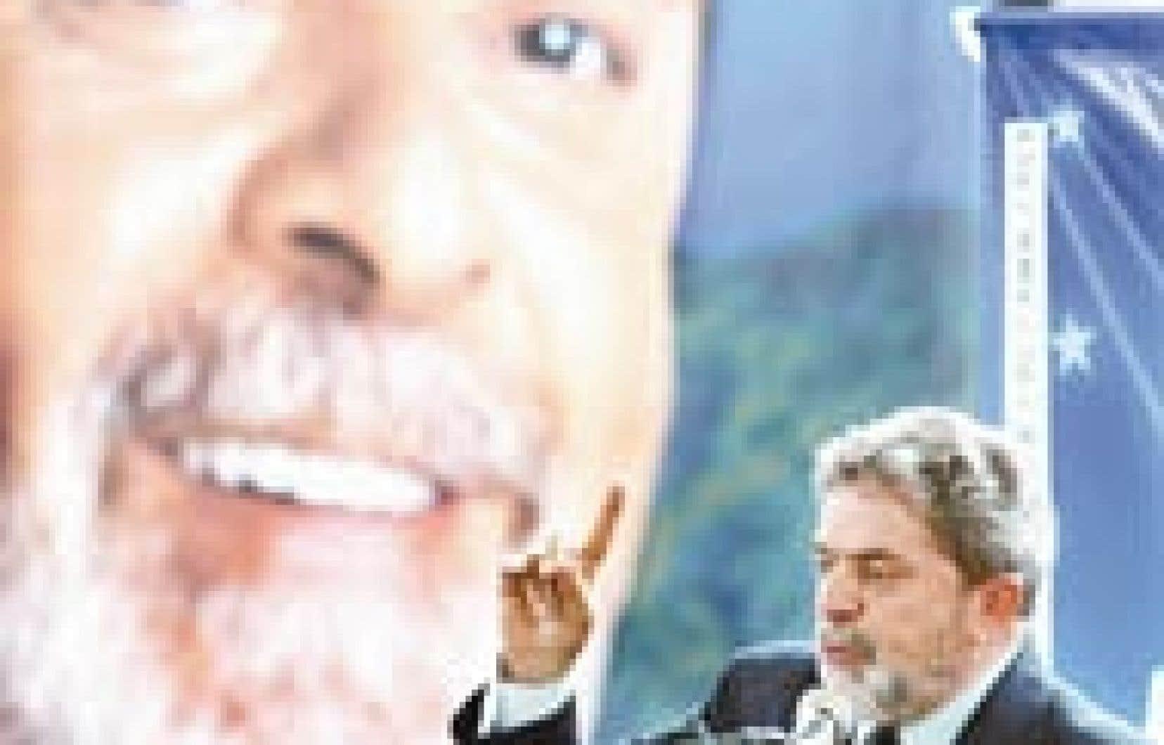 Le candidat du Parti des Travailleurs, Luiz Inacio Lula da Silva, prononçant un discours à Rio de Janeiro le 20 septembre. L'ancien syndicaliste pourrait l'emporter dès le premier tour de l'élection présidentielle, qui a lieu dimanche.