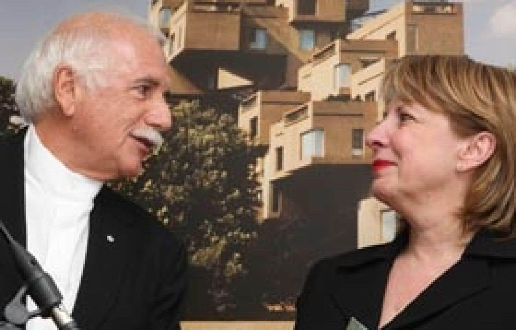 La ministre de la Culture, Christine St-Pierre, a annoncé hier que l'extérieur d'Habitat 67 et l'intérieur des unités 1011 et 1012, propriétés de l'architecte concepteur Moshe Safdie (à gauche), seraient classés monument historique en ver