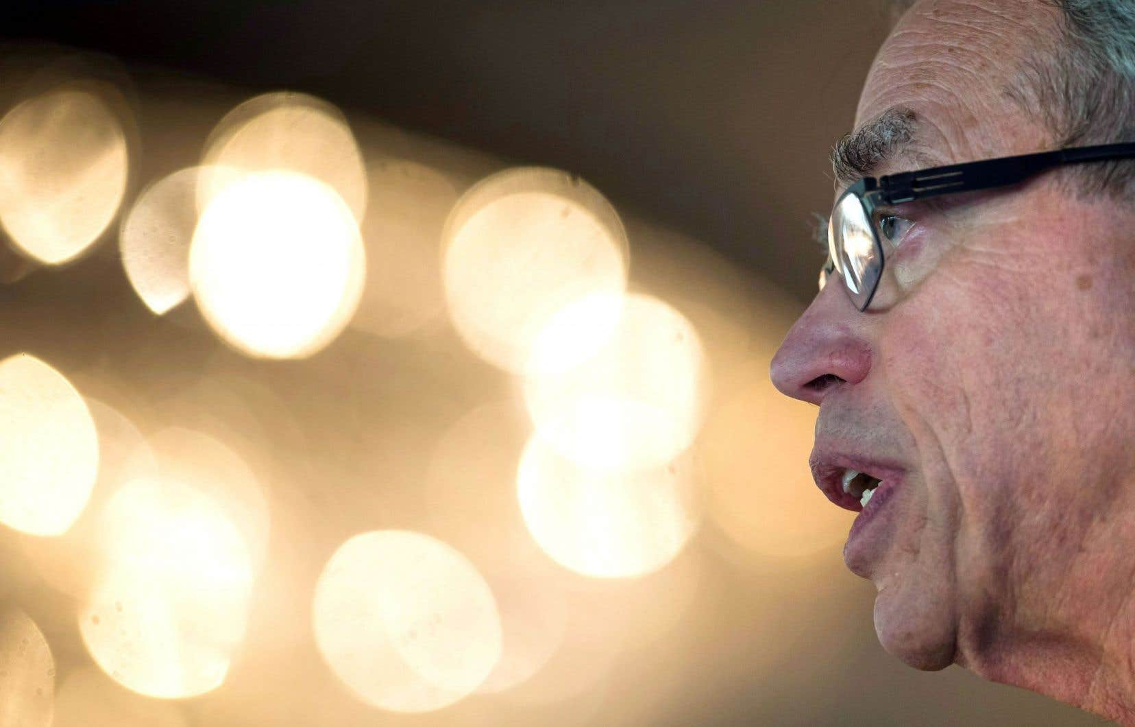 Le ministre des Finances Joe Oliver