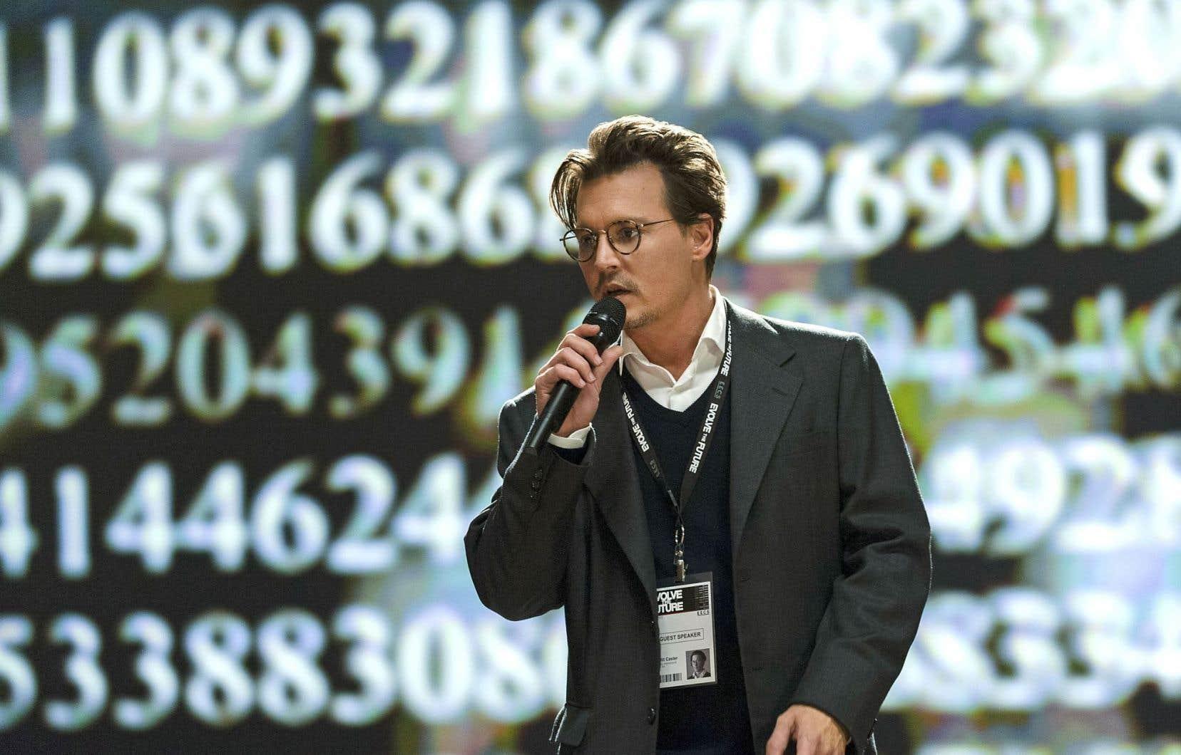 Une scène tirée du film «Transcendence», de Wally Pfister, avec Johnny Depp