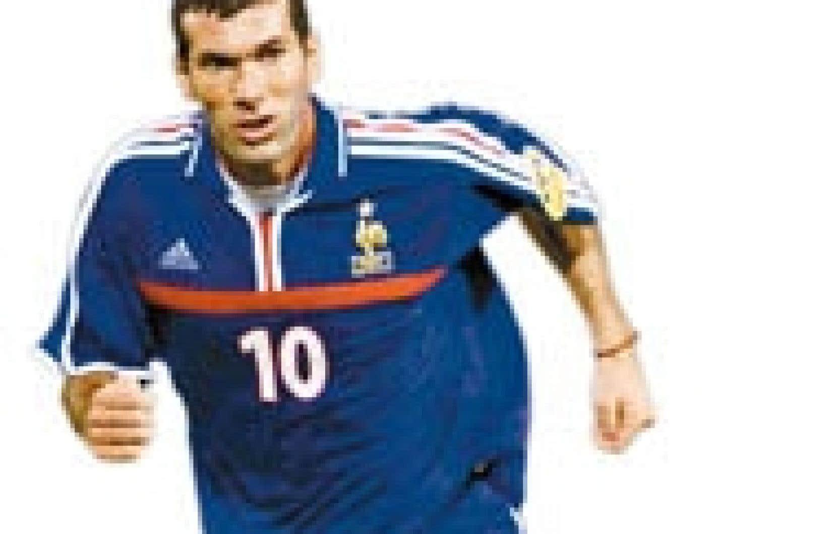 «Zizou», la star française du ballon rond.