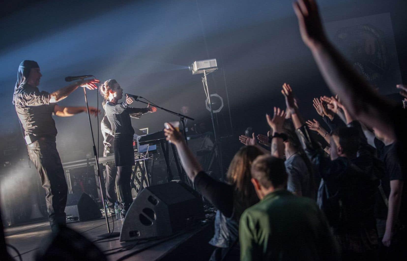 Laibach en concert à Victoriaville, le 15 mai dernier