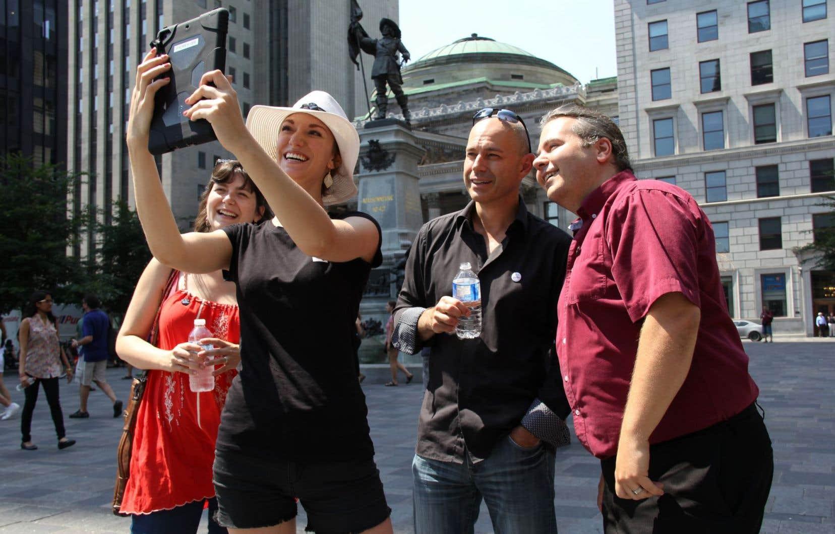 Lancée mercredi lors d'un événement à la place d'Armes, l'application est un guide audio et visuel du Vieux-Montréal.