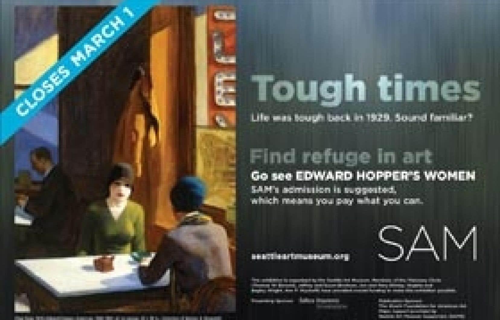 Au Seattle Art Museum, l'affiche de la récente exposition consacrée aux peintures d'Edward Hopper invitait les visiteurs à débourser ce qu'ils voulaient pour payer leur entrée.