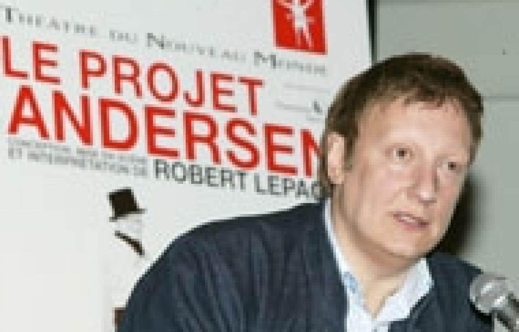 Robert Lepage, hier en conférence de presse
