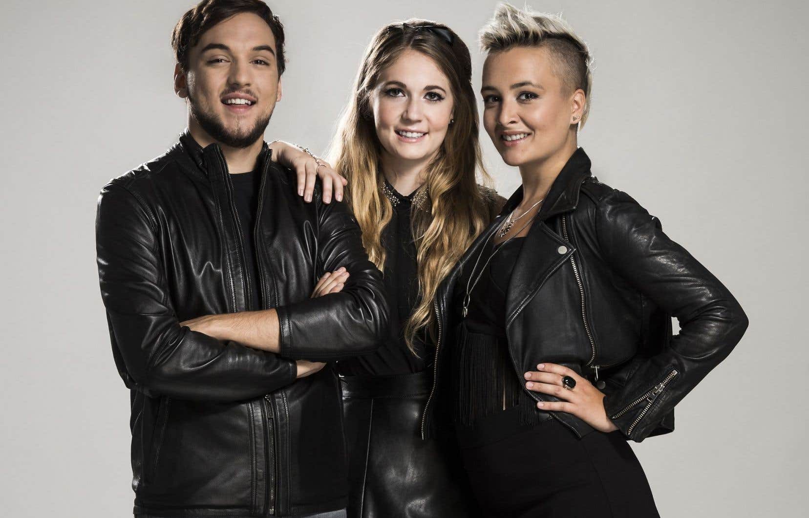 Gabriel Joncas, Rosalie Vaillancourt et Camille Piché-Jetté,animateurs de l'émission d'humour «CTRL»