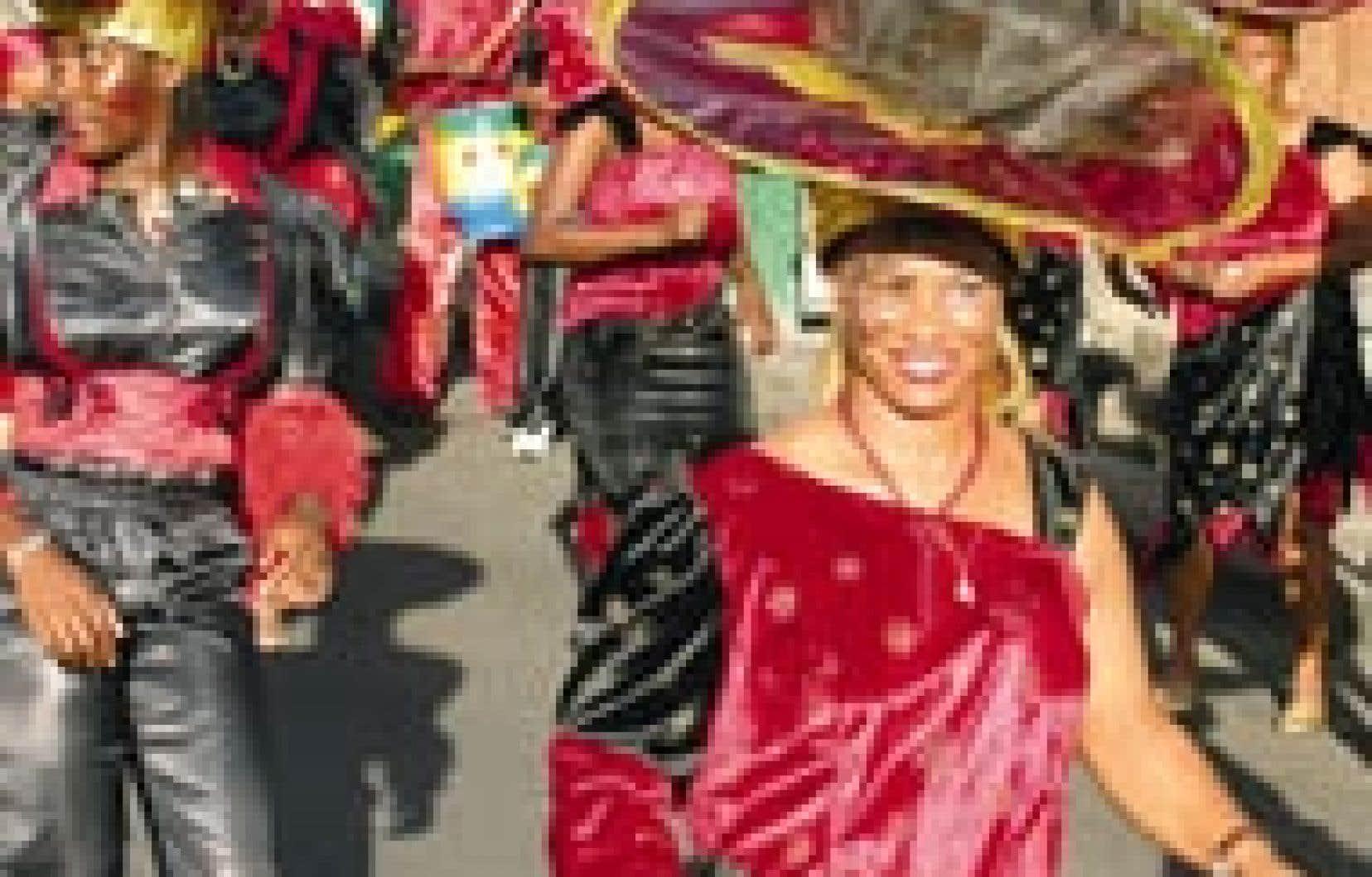 Le 18 mars 2004, c'était le grand « vidé » en rouge et noir de la mi-carême, à Basse-Terre.