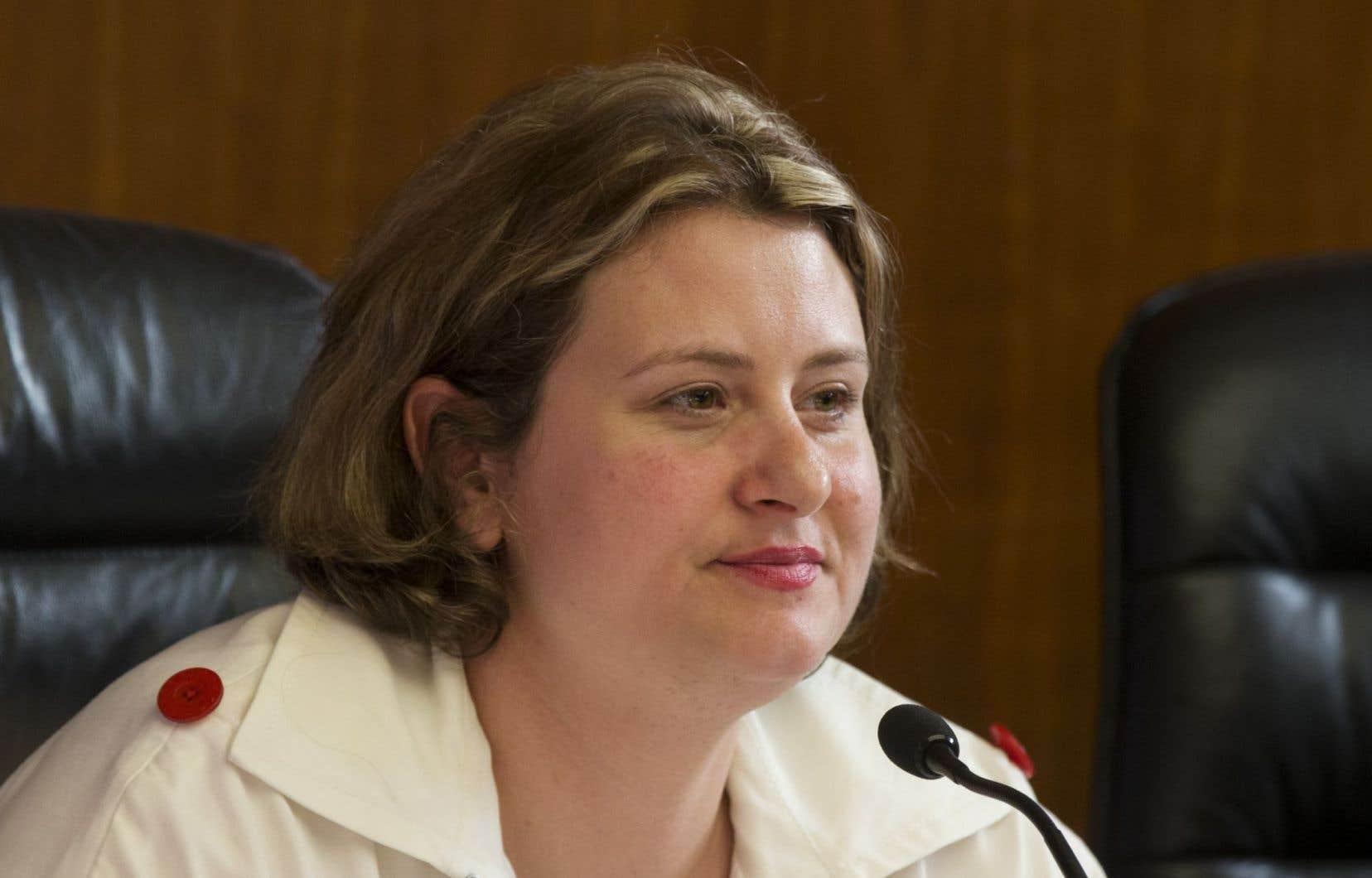 La présidente de la CSDM, Catherine Harel-Bourdon