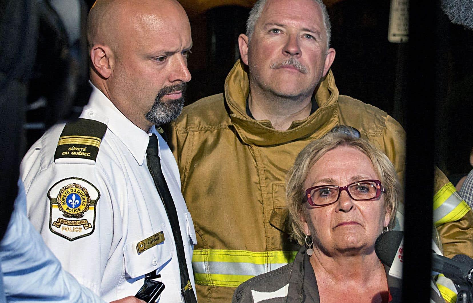 Colette Roy Laroche, ici photographiée dans les premières heures de la tragédie de juillet2013, dit vouloir prendre du repos après deux années très exigeantes.