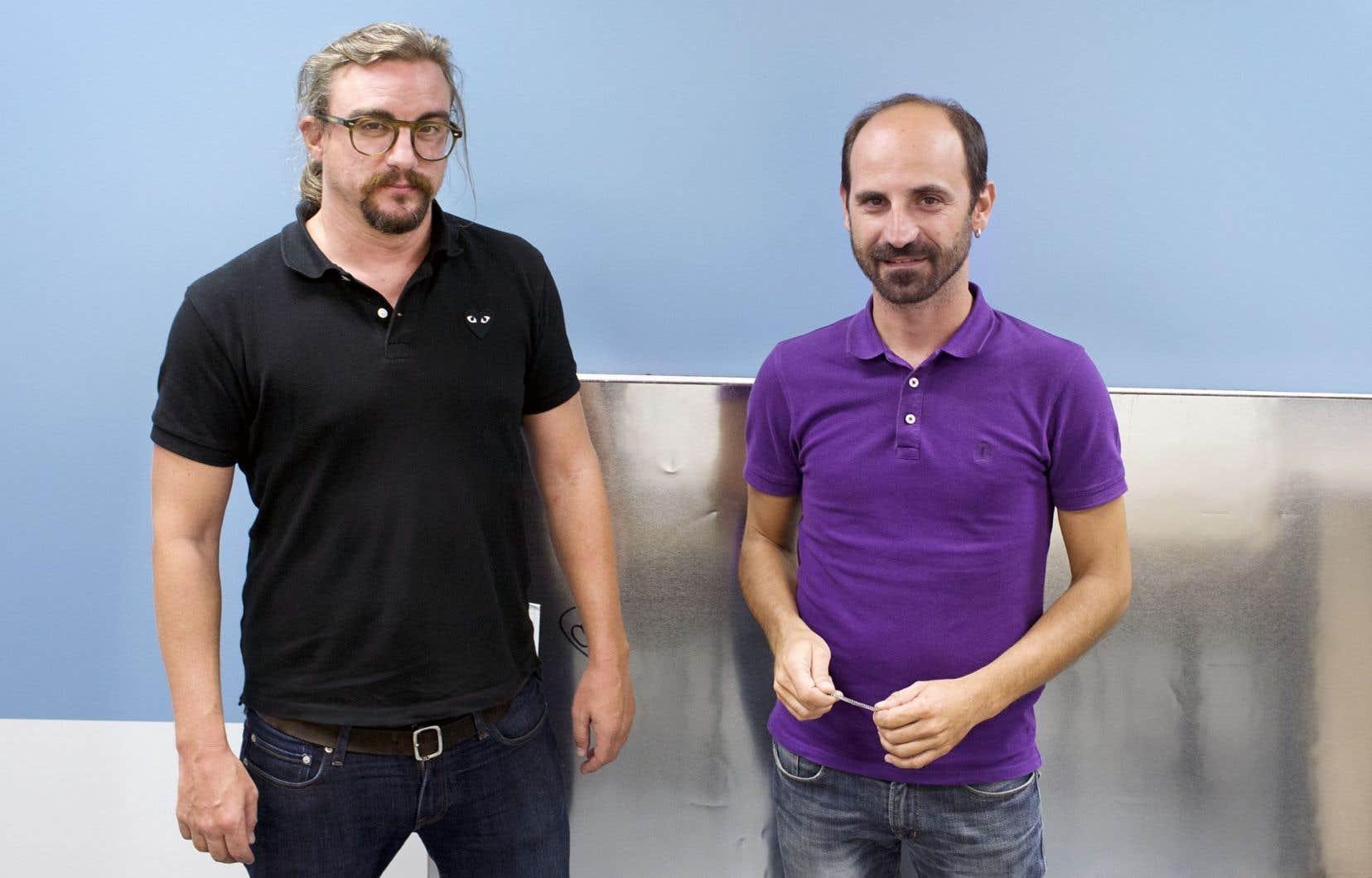 Jorge Lago, de Podemos, et Andreas Karitzis, de Syriza
