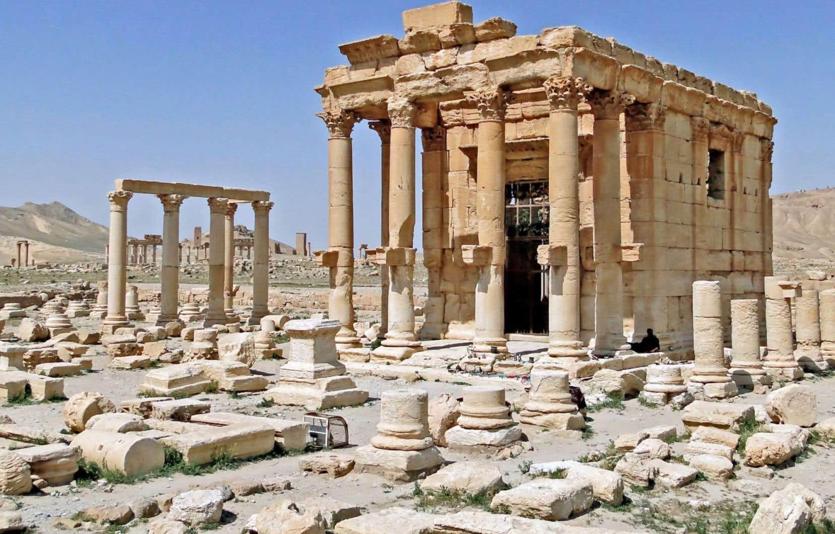 Le temple de Baalshamin dans la ville antique de Palmyre