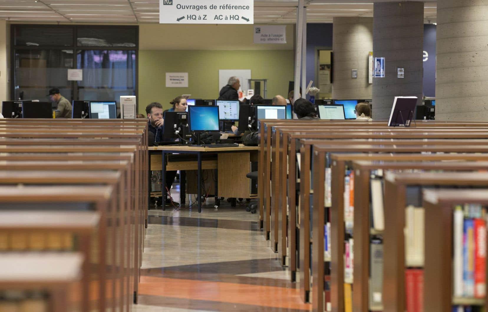 La bibliothèque centrale de l'UQAM