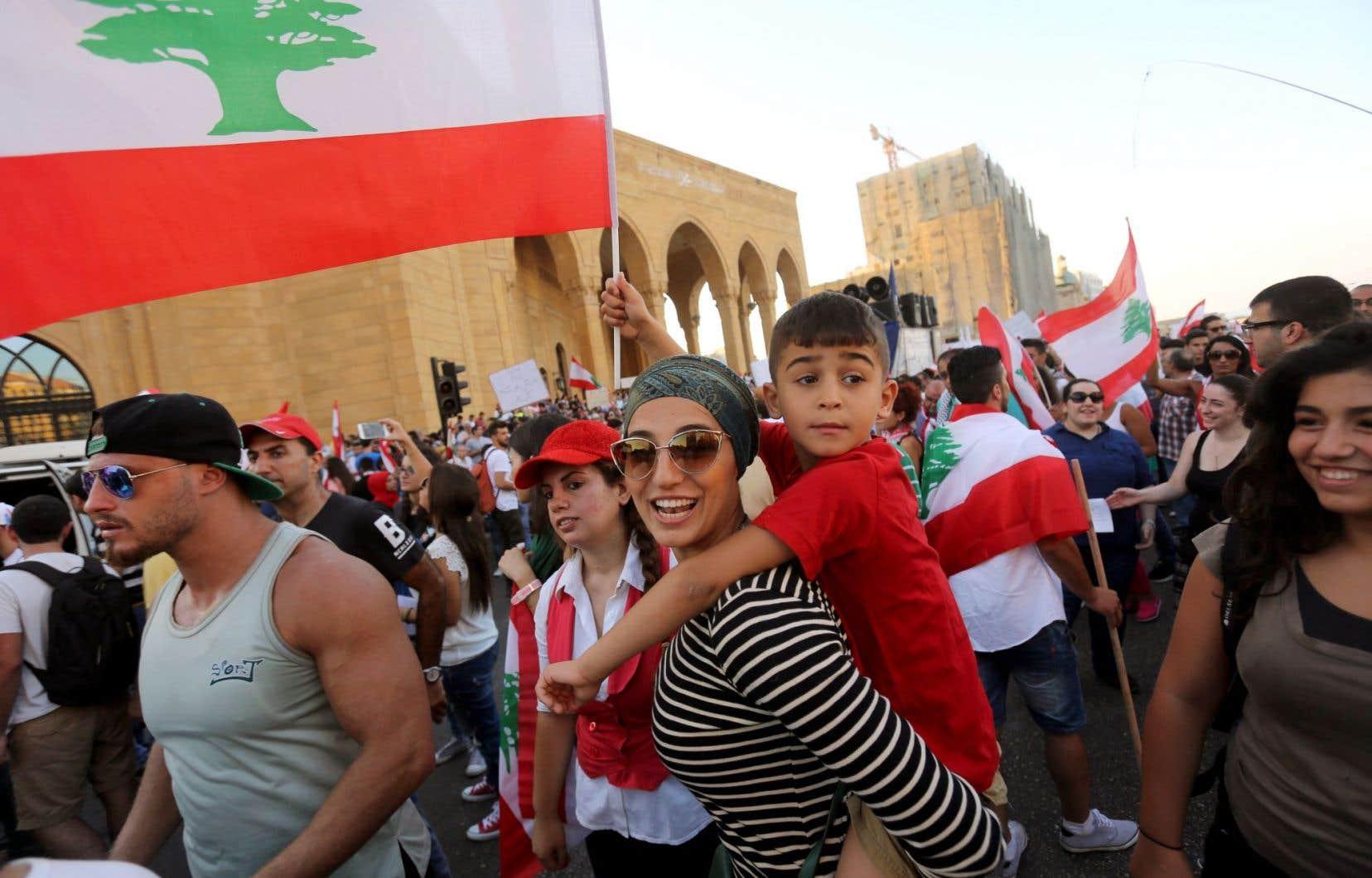 La manifestation de samedi répondait à un appel de la société civile, et non de partis politiques.
