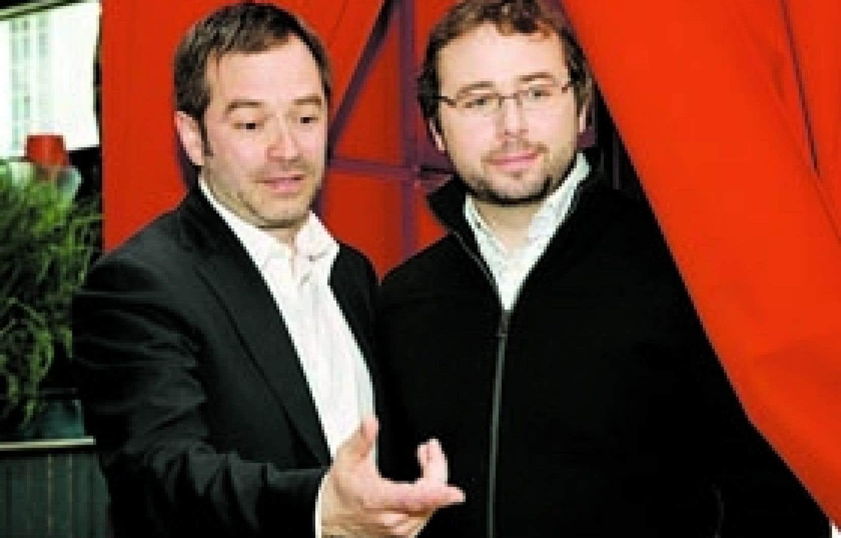 Le réalisateur Patrice Sauvé et le scénariste Frédéric Ouellet. Grande Ourse: la clé des possibles est rempli de rebondissements nombreux, défiant parfois toute logique.