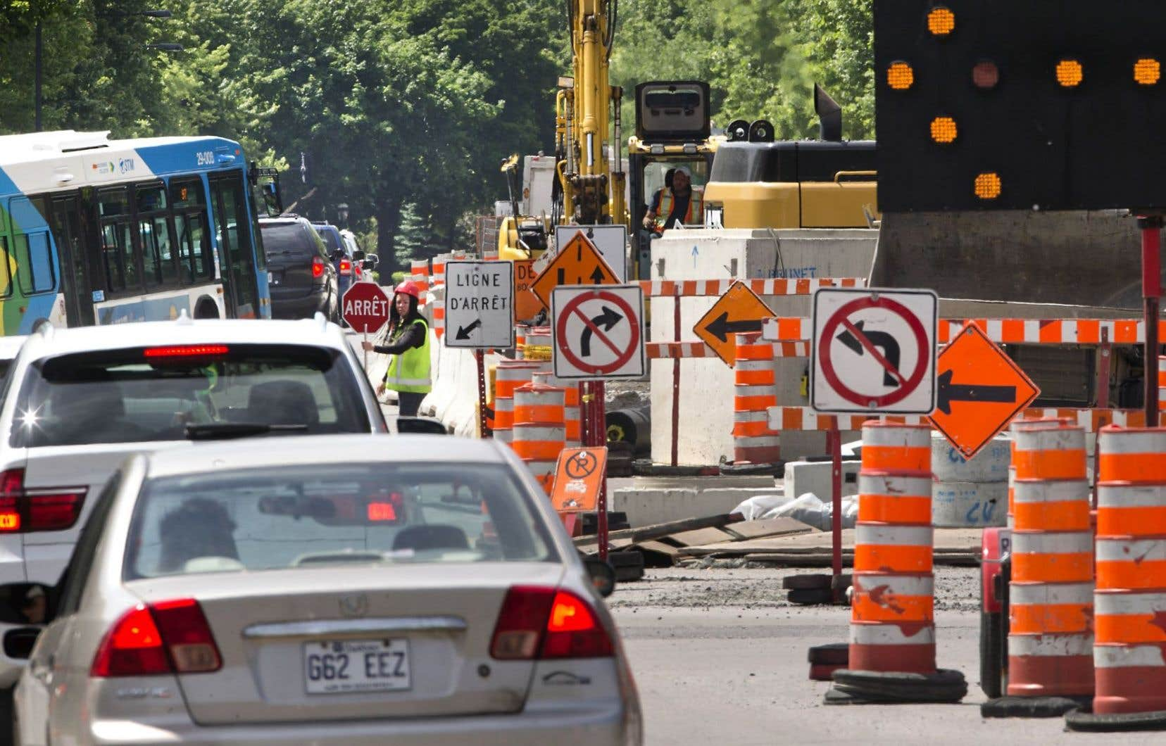 Les chantiers n'ont jamais été aussi nombreux à Montréal, notamment en raison des travaux en prévision du 375eanniversaire de la ville.