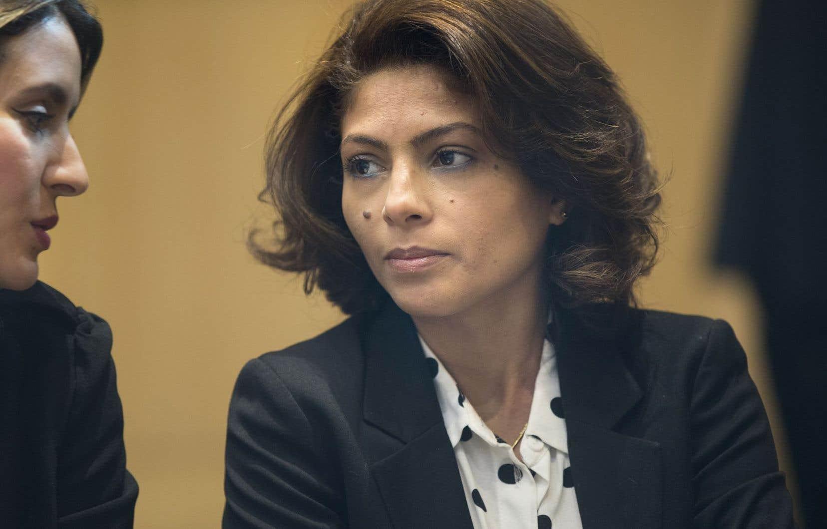 La femme de M.Badawi, Ensaf Haidr, cofondatrice de la fondation.