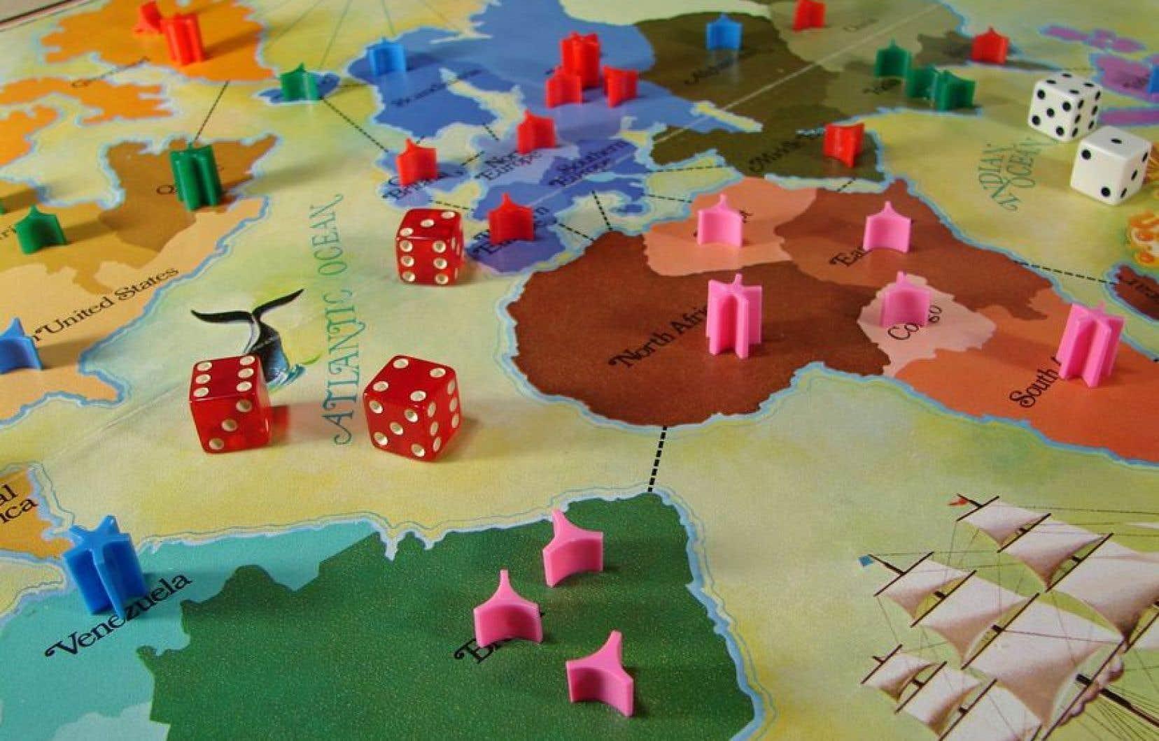 Le plateau d'un jeu de Risk datant de 1975