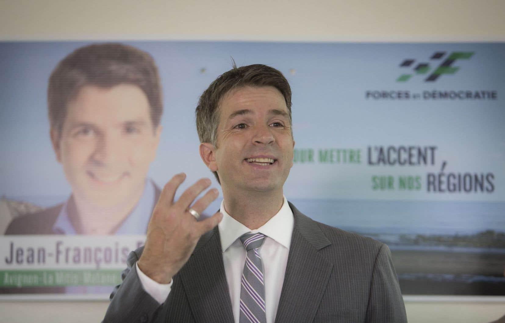 Le cofondateur de la formation Forces et Démocratie, Jean-François Fortin