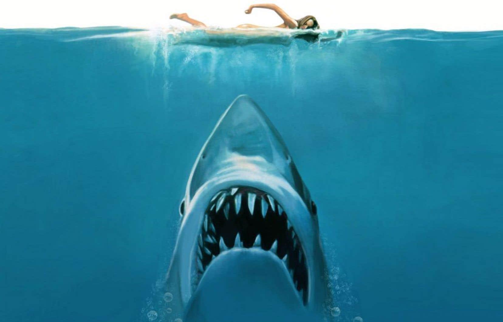En 1975, Spielberg transforme radicalement l'image du squale dans Jaws.